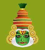 South Indian traditional kathakali dancer Stock Photography