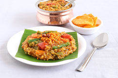 South Indian Traditional Vegetarian Rice Dish, Bisi Bele Bath Royalty Free Stock Photos