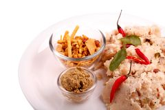 South indian upma with chutney Royalty Free Stock Photo