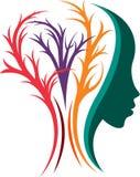 Brain neurology logo royalty free illustration