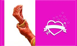 South indian wedding invitation card designs, Indian bride putting on bangles with hearts. Indian bride putting on bangles, indian ceremony stock photos
