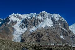 South Inilchek Tian Shan mountains snow summit stock photo