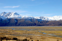 South Island Landscape, New Zealand. South Island Landscape Scenery, Canterbury, New Zealand Royalty Free Stock Images