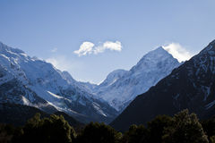 Mount Cook, South Island, New Zealand. Mount Cook, South Island Landscape Scenery, Canterbury, New Zealand Royalty Free Stock Photos