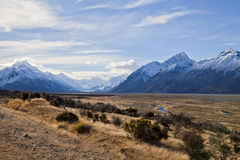 South Island Landscape, New Zealand. South Island Landscape Scenery, Canterbury, New Zealand Stock Images