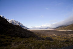 South Island Landscape, New Zealand. South Island Landscape Scenery, Canterbury, New Zealand Royalty Free Stock Photography