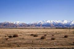South Island Landscape, New Zealand. South Island Landscape Scenery, Canterbury, New Zealand Stock Photos