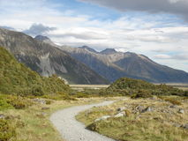 South Island mountains. This picture was taken in summer near Mt Cook in the South Island of New Zealand Royalty Free Stock Photography