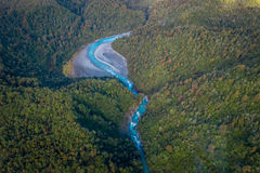SOUTH ISLAND, NEW ZEALAND- MAY 25, 2017: Beautiful landscape and turquoise river, in South Westland`s Southern Alps, New Stock Image