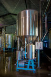SOUTH ISLAND, NEW ZEALAND- MAY 25, 2017: Modern Beer Factory, steel tanks for beer fermentation and maturation Stock Images