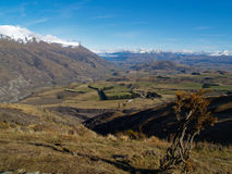South Island New Zealand, view to Queenstown. Royalty Free Stock Photo