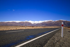 South island road, New Zealand. South Island road trip photo. Central Otago and Canterbury, New Zealand Royalty Free Stock Photo