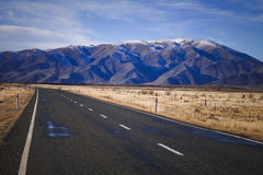 South island road, New Zealand. South Island road trip photo. Central Otago and Canterbury, New Zealand Stock Photography
