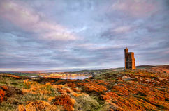 South of the Isle of Man with Milner Tower Royalty Free Stock Photos