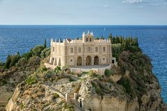 The south Italy, area Calabria, church of Tropea city Stock Photos