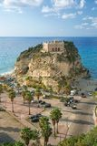 The south Italy, area Calabria, church of Tropea city Royalty Free Stock Photos