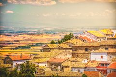 South italy village vintage look italian rooftop town.  Royalty Free Stock Photos