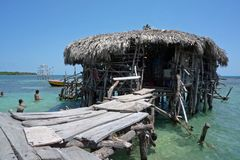 South Jamaica Travel. A view of the Pelican Bar in Treasure Beach, Jamaica Royalty Free Stock Image