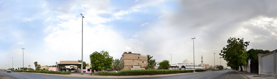 South Jeddah panoramic image royalty free stock image