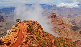 South Kaibab trail. On the way down to Grand canyon Royalty Free Stock Image