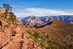 South Kaibab Trail. Grand Canyon view from South Kaibab Trail Royalty Free Stock Photo