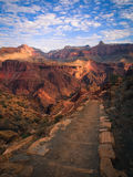 South Kaibab Trail. Early monring on the South Kaibab trail in Grand Canyon National Park stock images