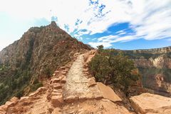 On the South Kaibab trail at the Grand Canyon. On the South Kaibab trail at Grand Canyon Stock Images