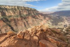 On the South Kaibab trail at the Grand Canyon. On the South Kaibab trail at Grand Canyon Royalty Free Stock Photo