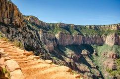 South Kaibab Trail. View up South Kaibab Trail at Grand Canyon Royalty Free Stock Photography