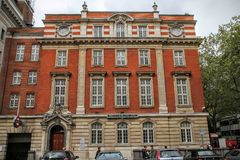 SOUTH KENSINGTON, LONDON, UK - MAY 07 2012: Exterior of the Science Museum. In Exhuibition Road, London Stock Photography