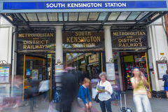 South Kensington Station at a rush hour in London, United Kingdom Royalty Free Stock Image