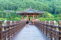 SOUTH KOREA - AUGUST 9 : Wolyeonggyo Bridge and Tourists. Stock Photography