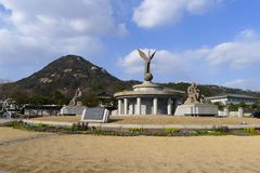 South Korea - Bluehouse. This is the home of South Korean's president, known as The Bluehouse Royalty Free Stock Photos