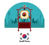 South korea culture. Icon vector illustration graphic design Royalty Free Stock Photos