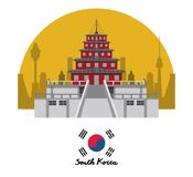 South korea culture. Icon vector illustration graphic design Royalty Free Stock Images