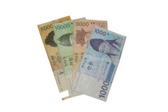 South Korea currency Stock Image