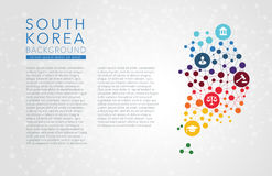 South Korea dotted vector background Royalty Free Stock Photography