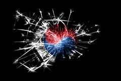 South Korea fireworks sparkling flag. New Year 2019 and Christmas party concept. South Korea fireworks sparkling flag. New Year 2019 and Christmas party concept stock photography