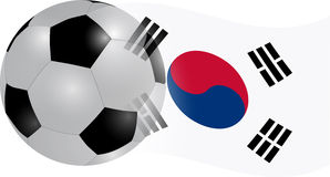 South korea flag. South korea ball flag illustration stock illustration
