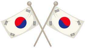 South Korea flag royalty free illustration