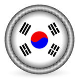 South Korea flag button Royalty Free Stock Photography