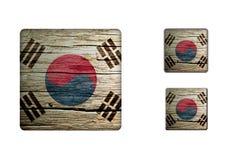 South-korea Flag Buttons Stock Photo