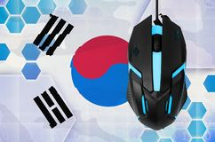 South Korea flag and computer mouse. Concept of country representing e-sports team royalty free stock photography