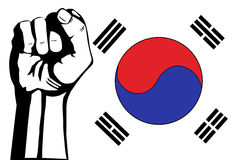 South Korea flag Royalty Free Stock Photo