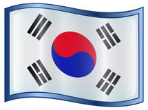 South Korea Flag Icon Royalty Free Stock Images