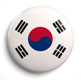 South Korea flag Royalty Free Stock Photos