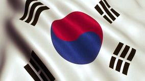 South Korea Flag Looping Video - 4K stock footage