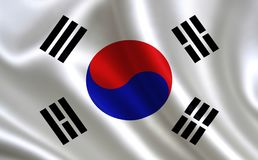 South Korea flag. A series of `Flags of the world.` The country - South Korea flag Stock Illustration