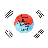 South Korea Flag Sketch Royalty Free Stock Photos