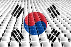 South Korea flag stadium seats. Sports competition concept. South Korea flag stadium seats. Sports competition concept royalty free stock photo